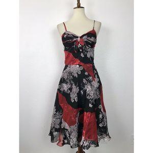 Sue Wong Silk Blend Tank Dress FLAW